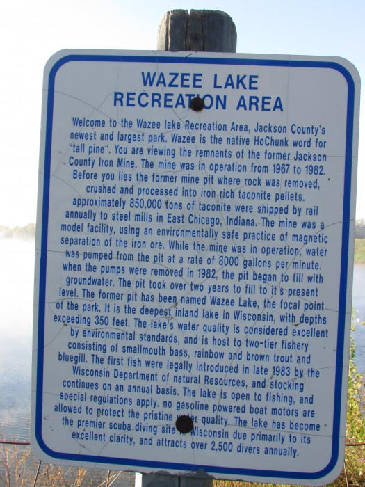 Lake Wazee Mine history in Black River Falls