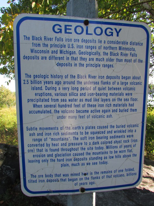 IGeology sign at Lake Wazee in Black River Falls