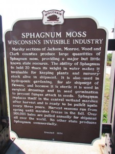 Sphagnum Moss Marker in Jackson Countty