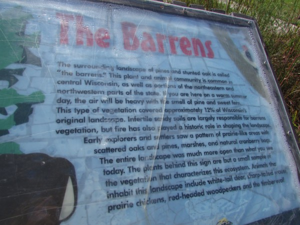 Barrens sign in Jackson County