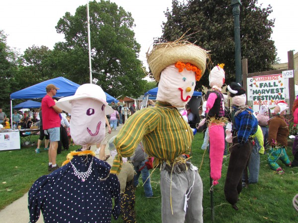Scarecrows at Cambridge Fall festival