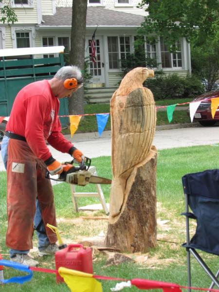 GET Carving - Glenn Thompson at Cambridge  Fall Festival