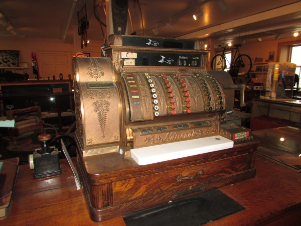 Cash register at Green County Museum