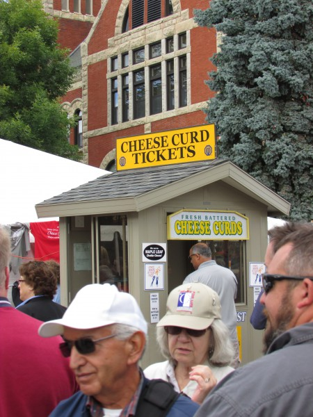 Cheese curd booth at Cheese Days in Monroe