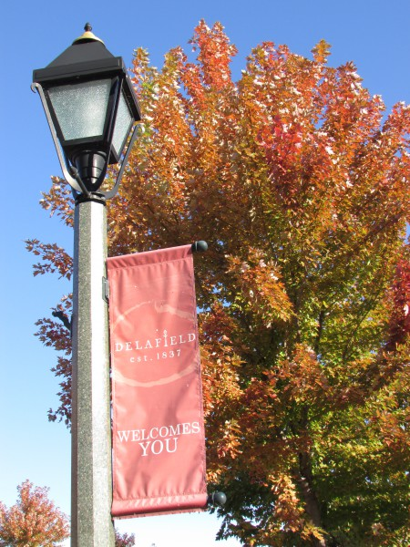 Delafield lamp post banner