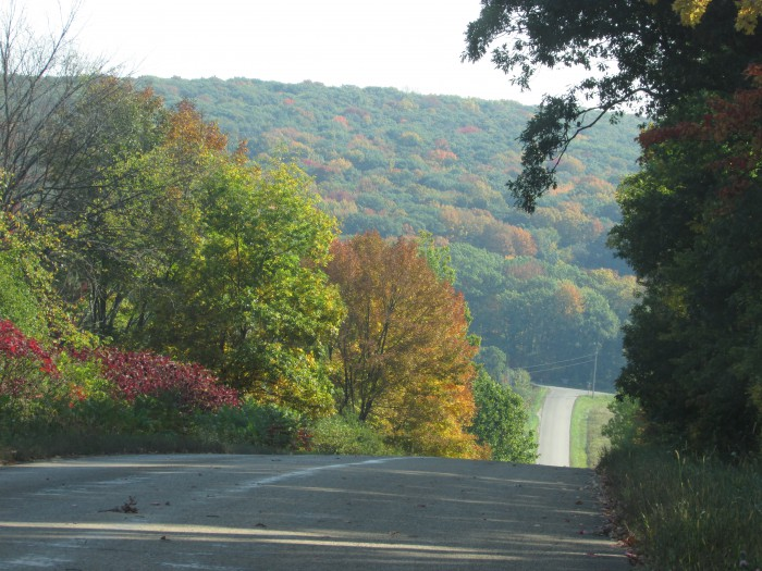 Country road in Baraboo