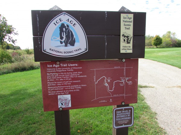 Ice Age Trail sign in Verona
