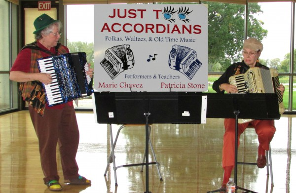 Just Too Accordions at AppleFest