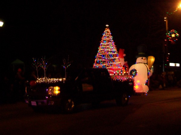Sauk Prairie Holiday Parade float