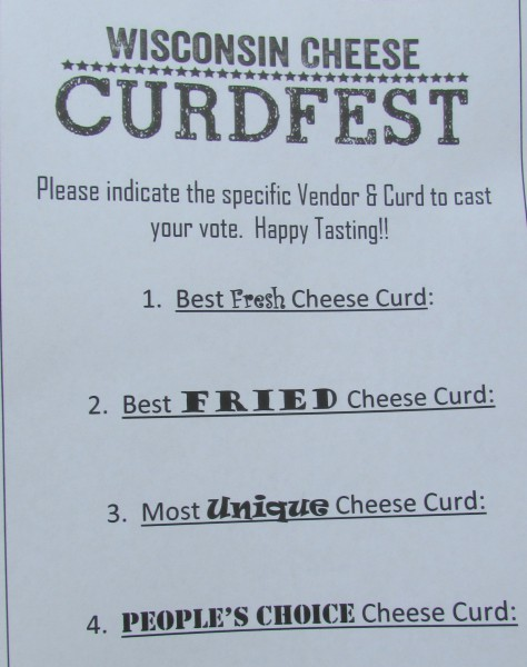 Cheese Curd ballot