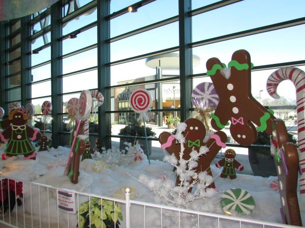 Gingerbread Display at Hilldale