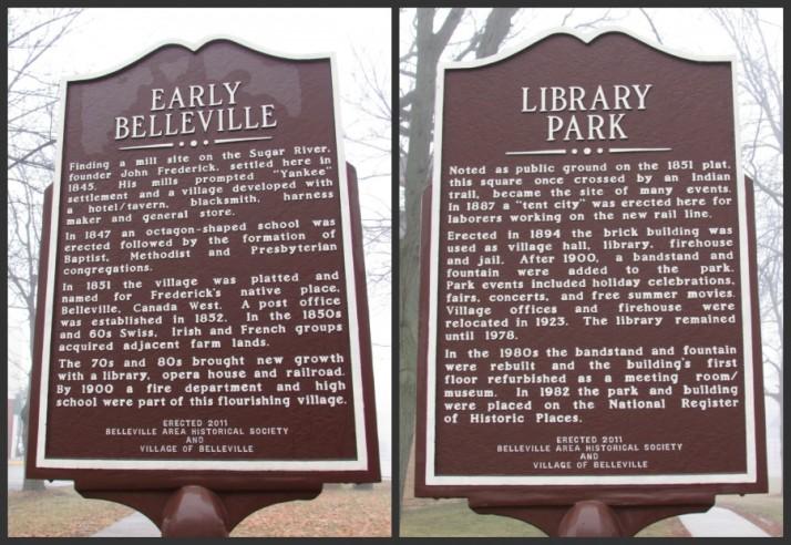 Belleville Marker both sides