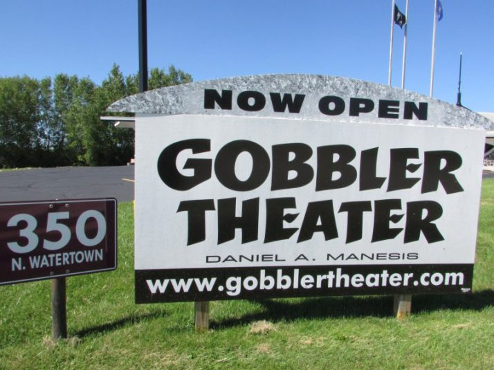 Gobbler Theater sign in Johnson Creek