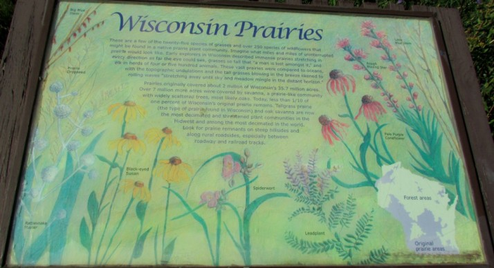 Wisconsin Prairies sign in Johnson Creek