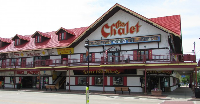 Chalet Building in Wisconsin Dells on Broadway