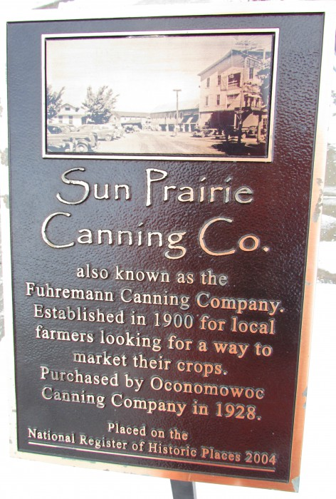 Fuhremann Canning Factory plaque