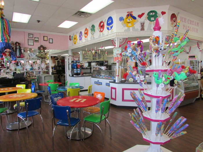 Goody Goody Gumdrop store inside on Broadway