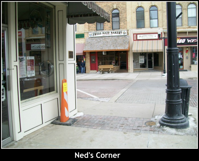 Ned Ryerson's Corner in Woodstock