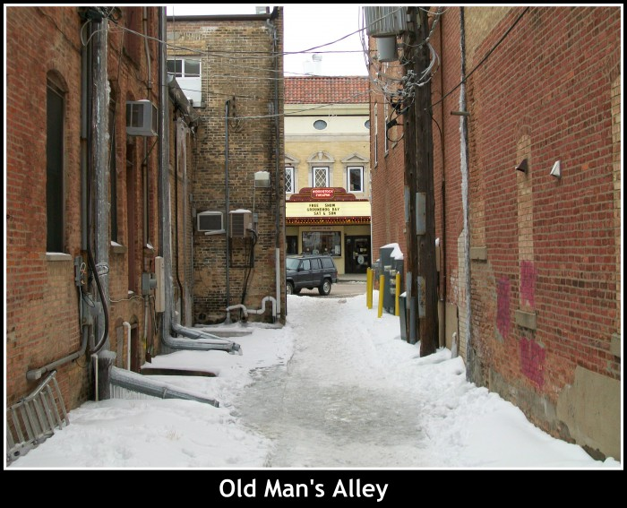 Old Man's Alley in Woodstock