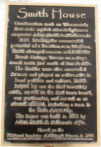 Smith House plaque