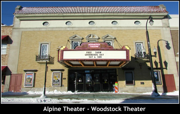 Alpine Theater - Woodstock Theater frame