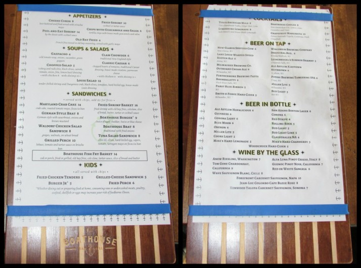 Boathouse menu collage