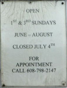 Cross Plains Historical Museum hours