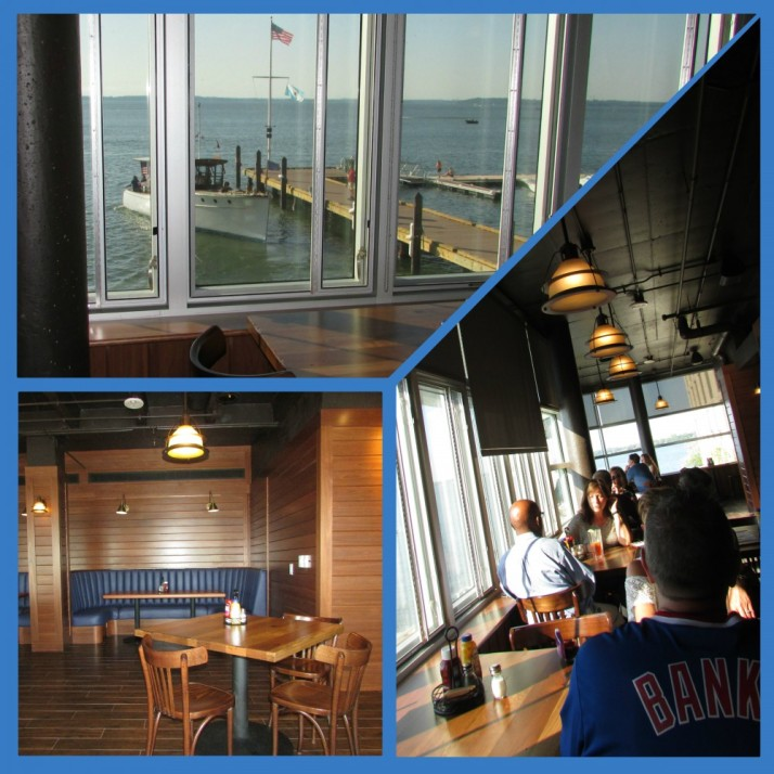 Edgewater Boathouse dining room collage