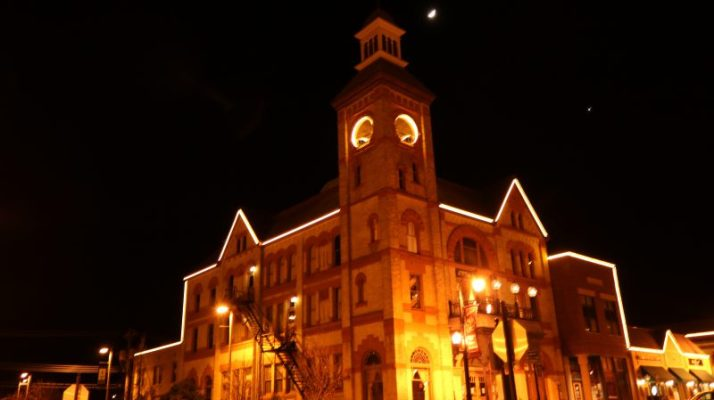 Woodstock Opera House at night
