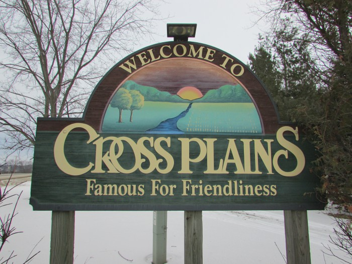 Cross Plains Sign