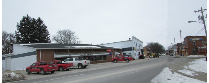 Main Street end in Cross Plains
