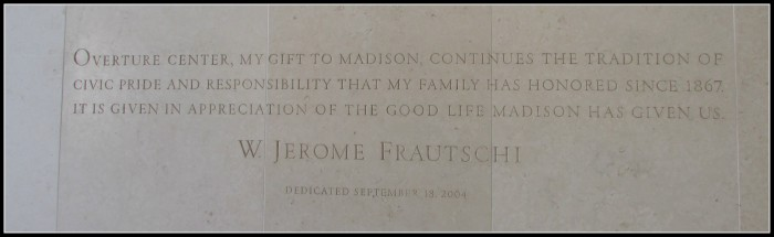 Jerry Frautchi quote atOverture Center