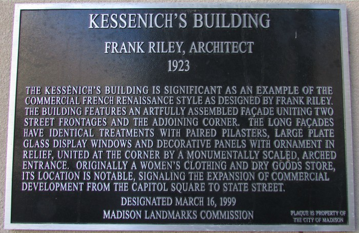 Plaque on Overture Center