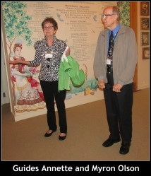 Docents Annette and Myron Olsen