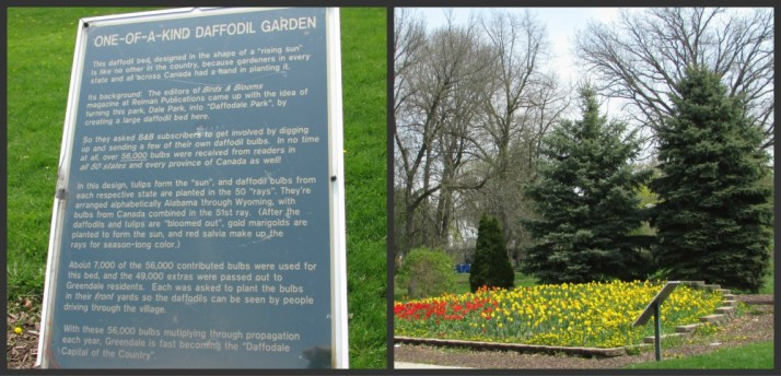 Daffodil Park and sign in Greendale