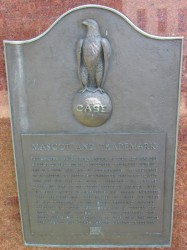 Eagle Mascot marker in Racine