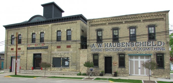 Hager Bottle House and A.W. Haubenschield Blacksmith bldg
