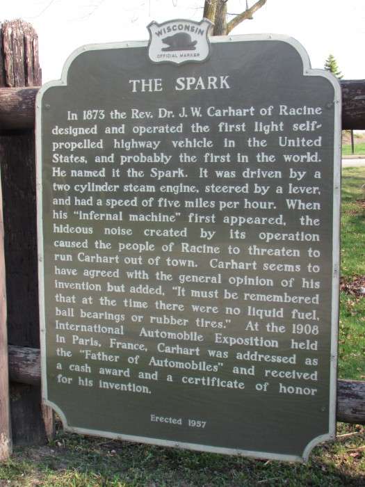 The Spark marker in Racine