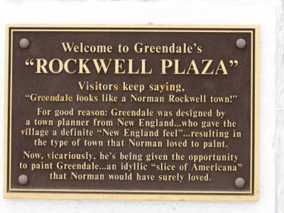Rockwell Plaza Plaque in Greendale