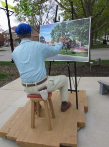 Norman Rockwell Painting Rockwell Plaza in Greendale