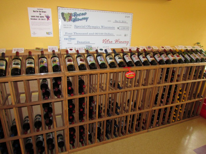 Wine Display at Vetro Winery in Jefferson