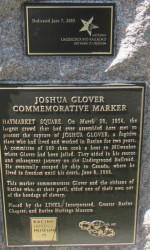 Joshua Glover marker in Racine