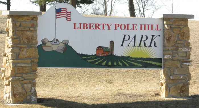 Liberty Pole Hill Park sign