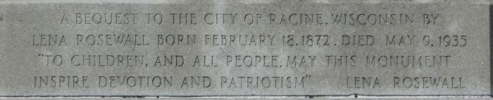 Lincoln and Mary Todd Statue inscription 2