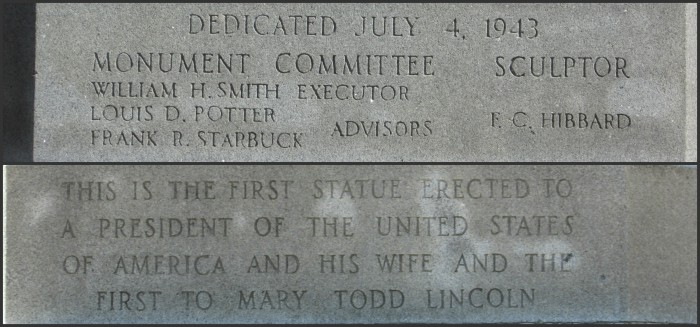 Lincoln Statue Inscriptions