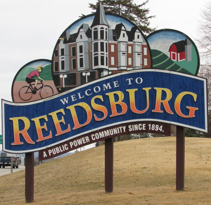 Reedsburg sign