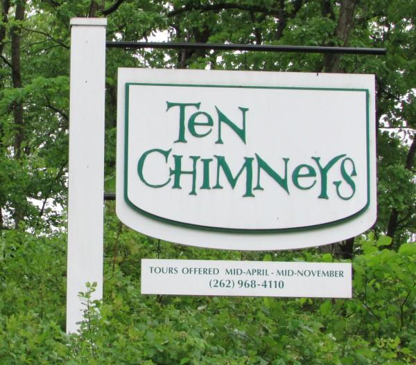 Ten Chimneys Sign