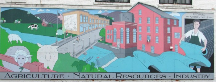 Woolen Mill Mural in Reedsburg