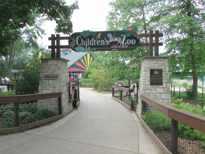 Childrens Zoo entrance at Vilas