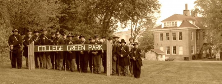 Civil War Soldiers Sepia in Milton